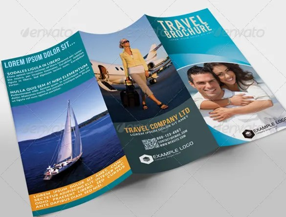 48  Travel Brochure Templates   Free Sample  Example Format Download     Tri Fold Travel Brochure Template