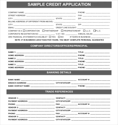 Why You Need a Good Credit Application, by Sam Fensterstock - Credit Management Association