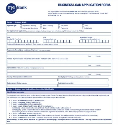 10+ Loan Application Templates - PDF, DOC | Free & Premium Templates