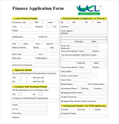 10+ Loan Application Templates - PDF, DOC   Free & Premium Templates