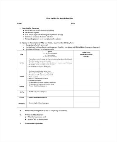 10+ Management Meeting Agenda Templates – Free Sample, Example Format Download | Free & Premium ...