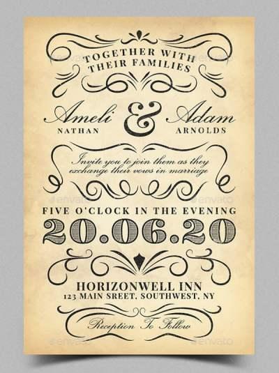 21+ Vintage Invitation Templates - Free PSD, AI, Vector ...