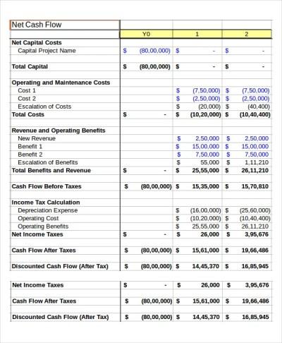 Cash Flow Excel Template - 11+ Free Excels Download | Free & Premium Templates