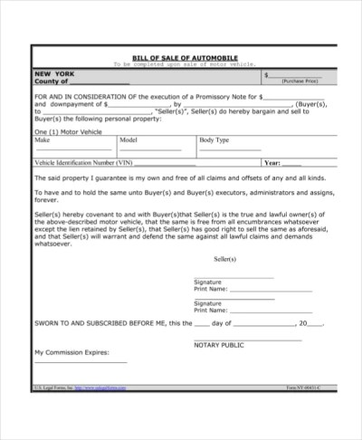 Promissory note for car pdf