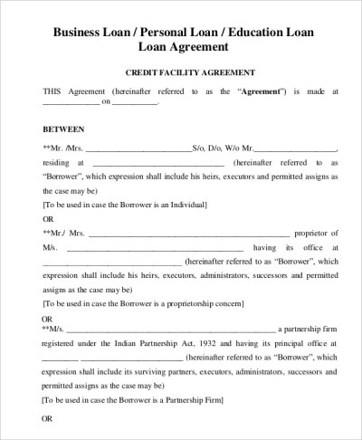 Loan Agreement Template - 20+ Free Word, PDF Format | Free & Premium Templates