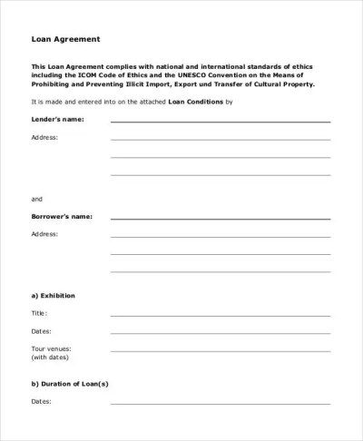 Loan Agreement Form - 14+ Free PDF Documents Download | Free & Premium Templates