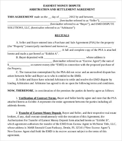 16+ Sample Money Agreement Templates - Word, PDF, Pages | Free & Premium Templates
