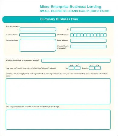 Small Business Plan Template -9+ Free Sample, Example, Format | Free & Premium Templates