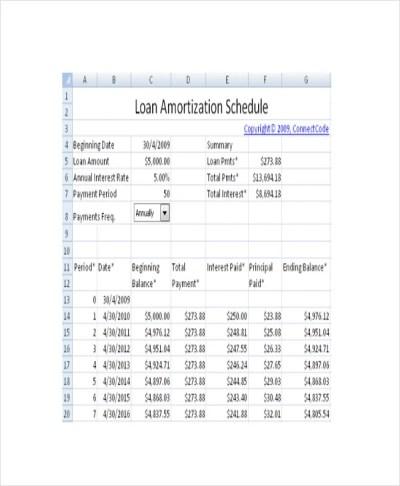 29+ Amortization Schedule Templates | Free & Premium Templates
