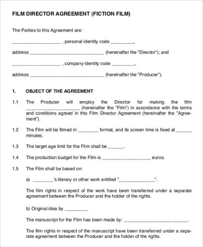 Director Agreement Templates - 9+ Free Word, PDF Format Download | Free & Premium Templates