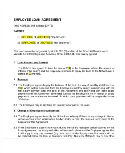 30+ Loan Agreement Templates - Word, PDF, Pages | Free & Premium Templates