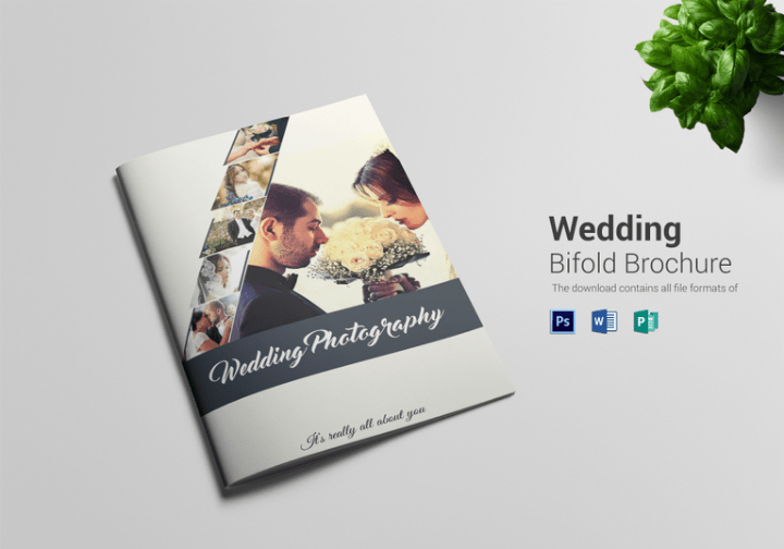 14  Wedding Brochure Designs  Templates   Editable PSD  AI  InDesign     Wedding Photography Bi fold Brochure Template