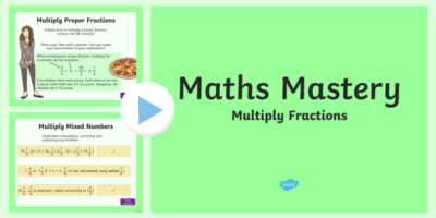 Year 5, Fractions and Decimals, Multiply Fractions Maths Mastery
