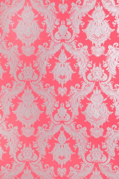 Damsel Removable Wallpaper - Coral - Urban Outfitters
