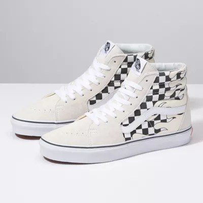 Checker Flame SK8 Hi   Shop At Vans Checker Flame SK8 Hi