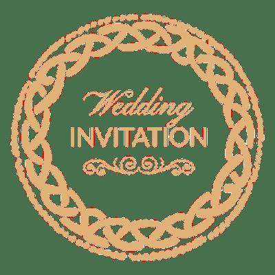 Round wedding invitation label 1 - Transparent PNG & SVG ...