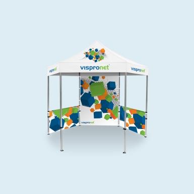 10x10 Hexagonal Aluminum Tent Frame - Pop Up Tent Deluxe 10x10