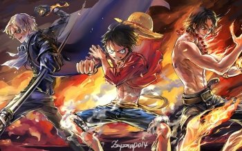 Anime One Piece Portgas D. Ace Monkey D. Luffy Sabo HD Wallpaper | Background