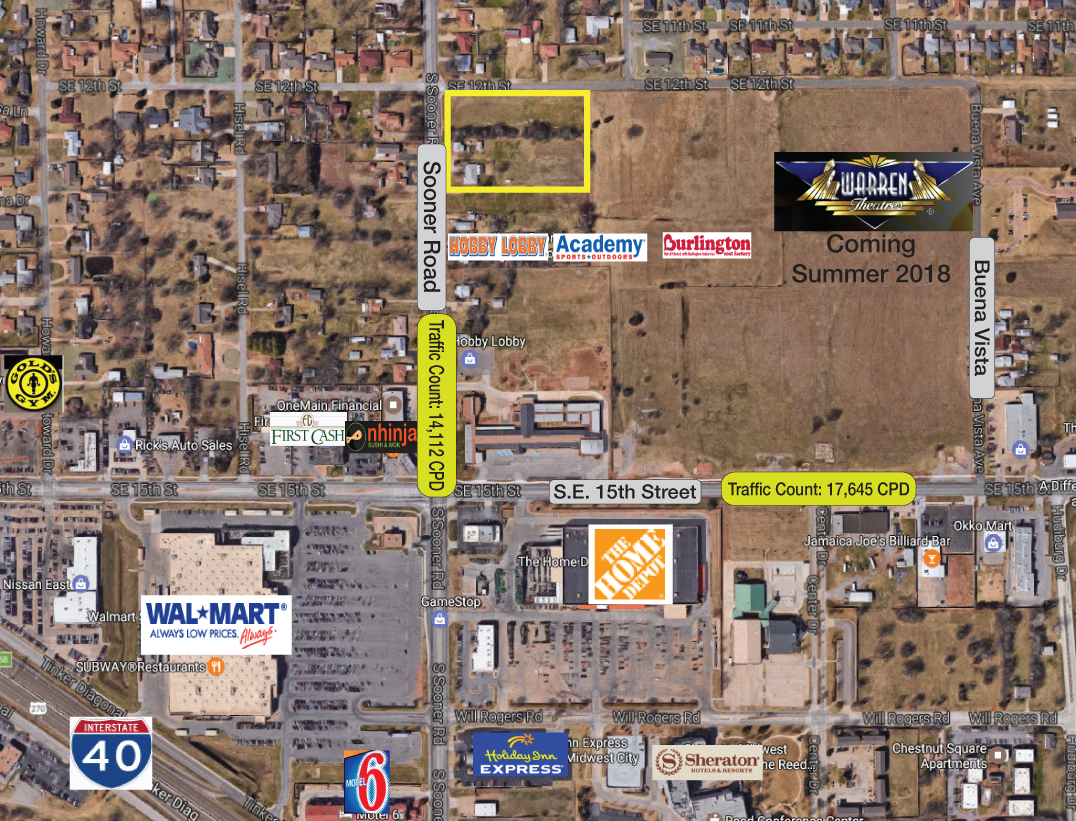 1300 S Sooner Rd  Midwest City  OK  73110   Commercial Property For     1300 S Sooner Rd  Midwest City  OK  73110   Commercial Property For Sale on  LoopNet com
