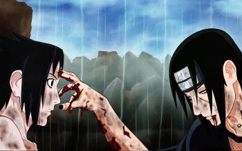 Anime Naruto Sasuke Uchiha Itachi Uchiha HD Wallpaper   Background Image