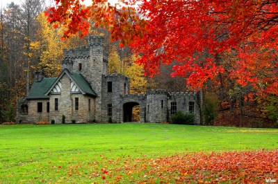 Castle in Autumn Full HD Wallpaper and Background Image | 2048x1365 | ID:883903