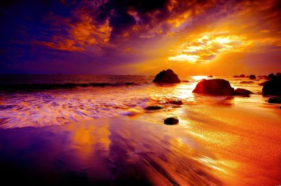 Beach Sunset Full HD Wallpaper and Background | 3000x2000 | ID:680737