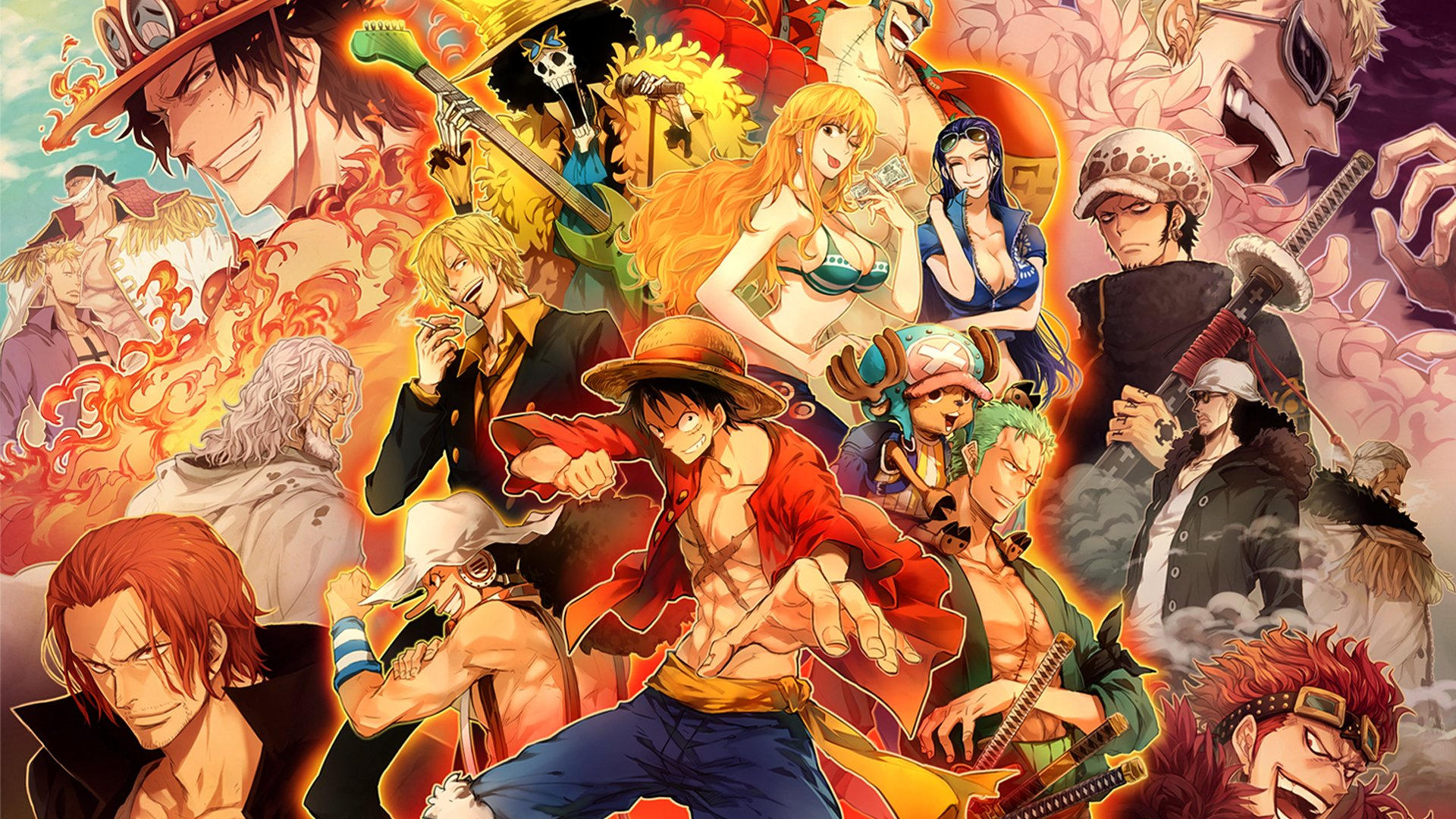 One piece poster HD Wallpaper   Background Image   1920x1080   ID     Wallpapers ID 606263