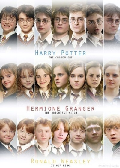 Harry Potter images The golden trio through the years wallpaper and background photos (34320273)