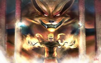Anime Naruto Naruto Uzumaki Kurama Fox HD Wallpaper   Background Image