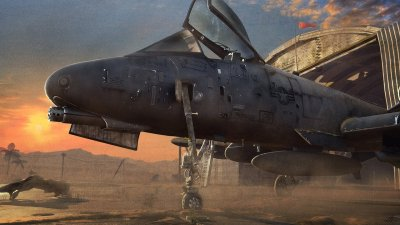 A-10 Thunderbolt II Waits for combat. Wallpaper and Background Image | 1440x810 | ID:384086