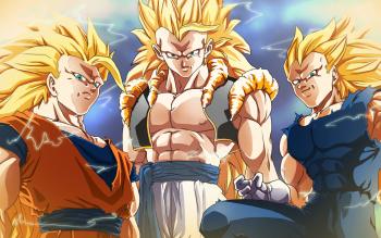 Anime Dragon Ball Z Dragon Ball Goku Super Saiyan Gogeta Super Saiyan 3 Vegito HD Wallpaper   Background Image
