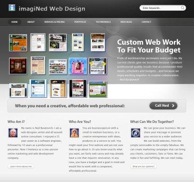 Rebuilding this Portfolio Site - imagiNed Web Design