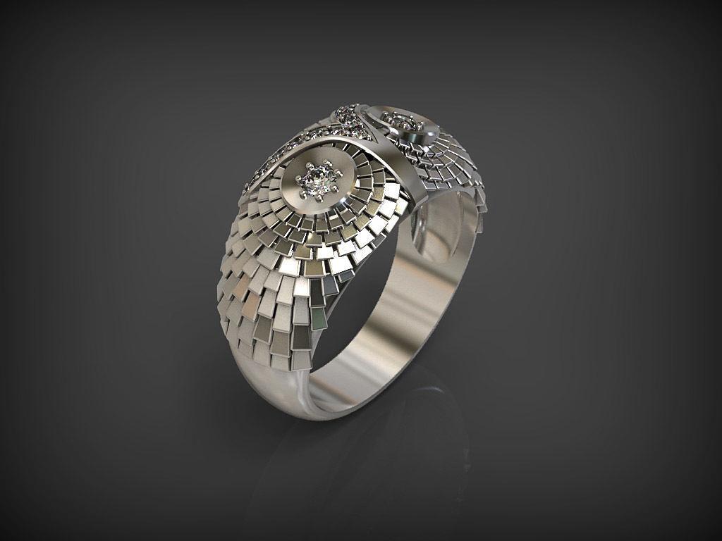 owl ring 2 owl wedding ring owl ring 2 3d model stl 5