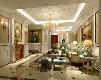 interior European-Style Living Room Design 3D | CGTrader