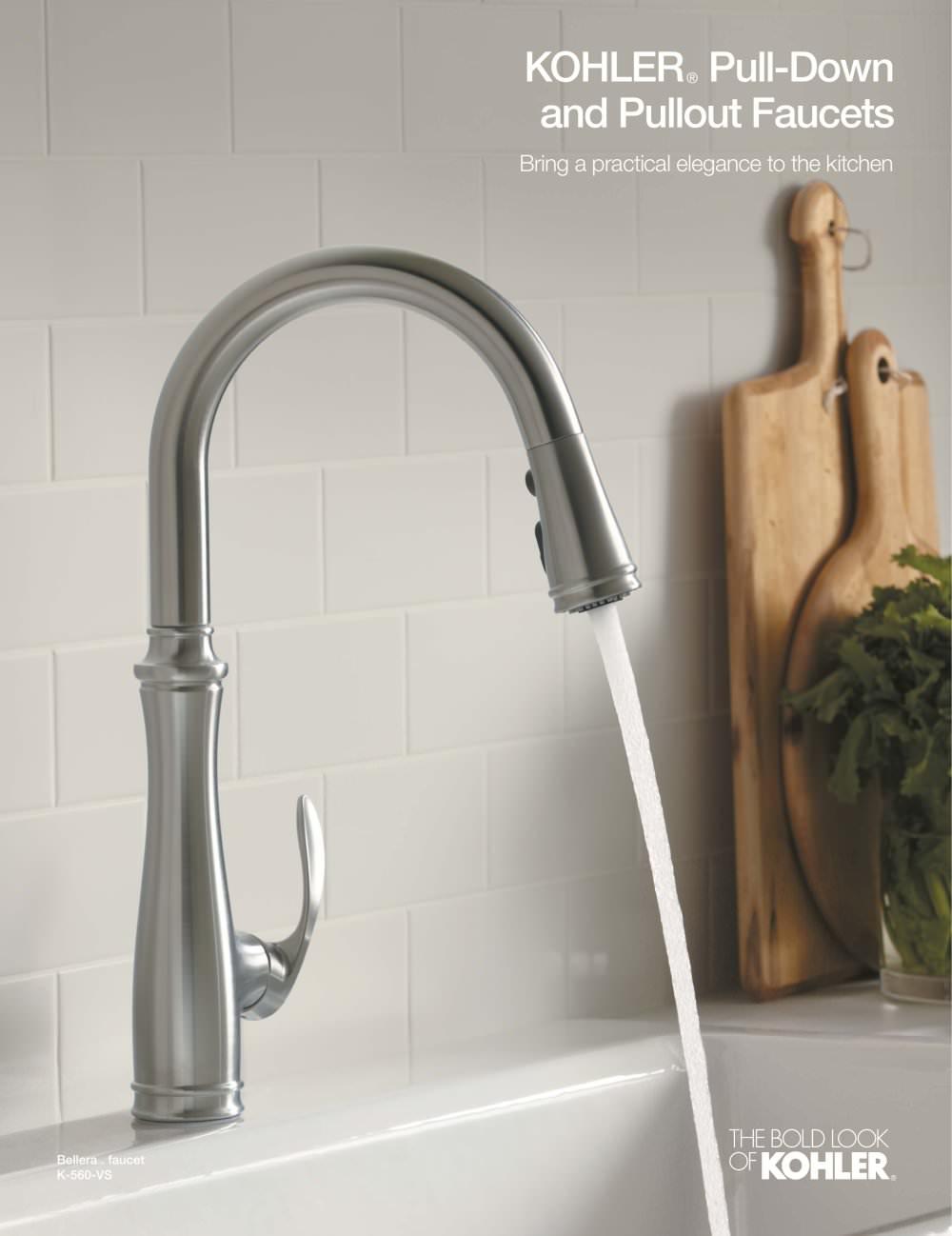 kohler kitchen faucet Kitchen Faucet Brochure Pulldown Pullout 1 4 Pages