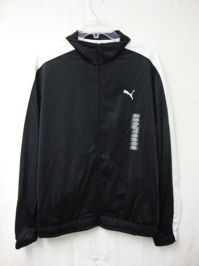 Puma Sport Lifestyle Poly Knitted Tricot Jacket Black In ...