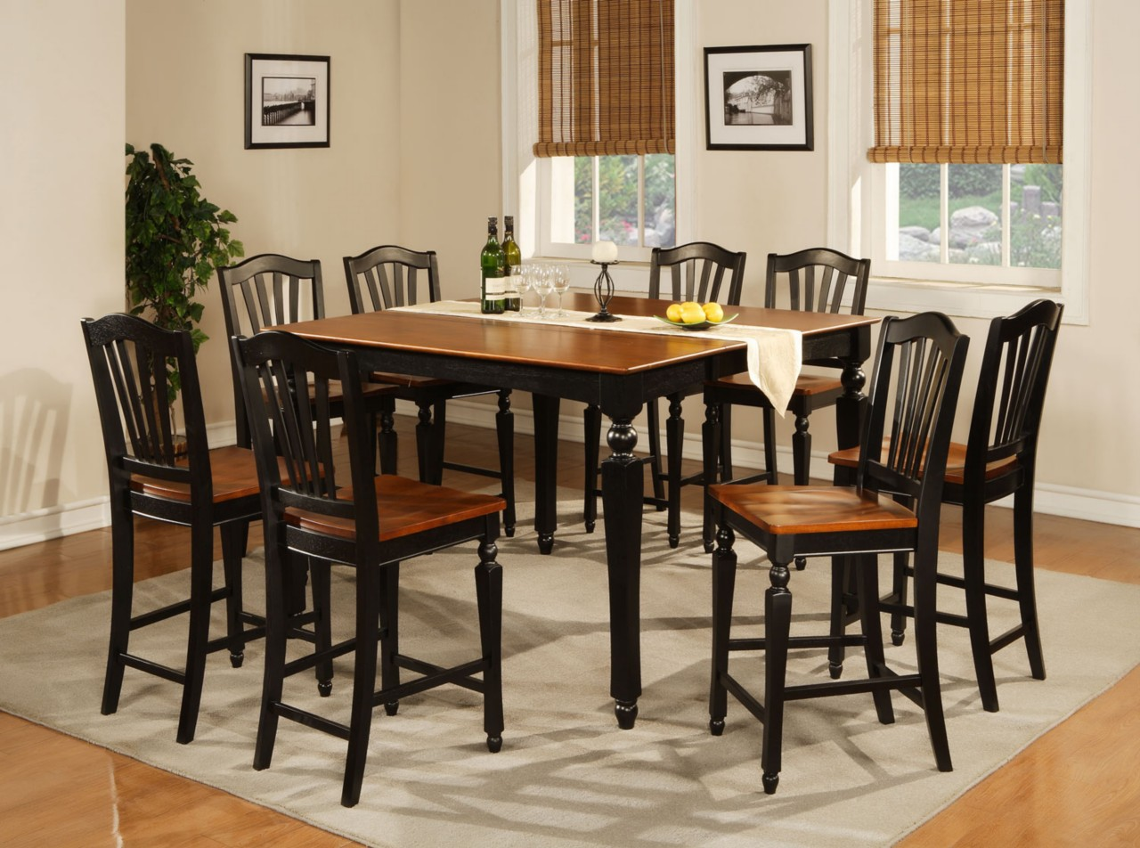 high dining table sets counter height kitchen tables Round Glass Kitchen Table Sets Decoration Ideas High