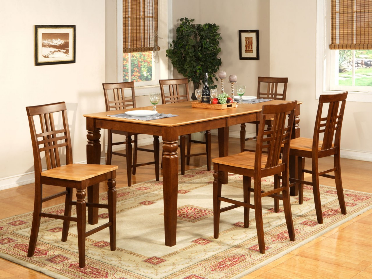 counter height table jofran dining set kitchen table efurnituremart counter height kitchen chairs 9PC DINETTE KITCHEN COUNTER HEIGHT TABLE WITH 8 CHAIRS IN ESPRESSO