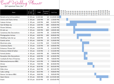 FREE Excel Wedding Planner Template - Download Today ...