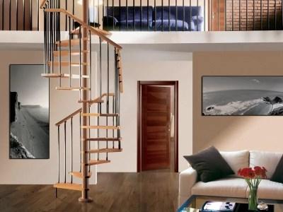 Escalera de caracol de madera TEKLA by RINTAL