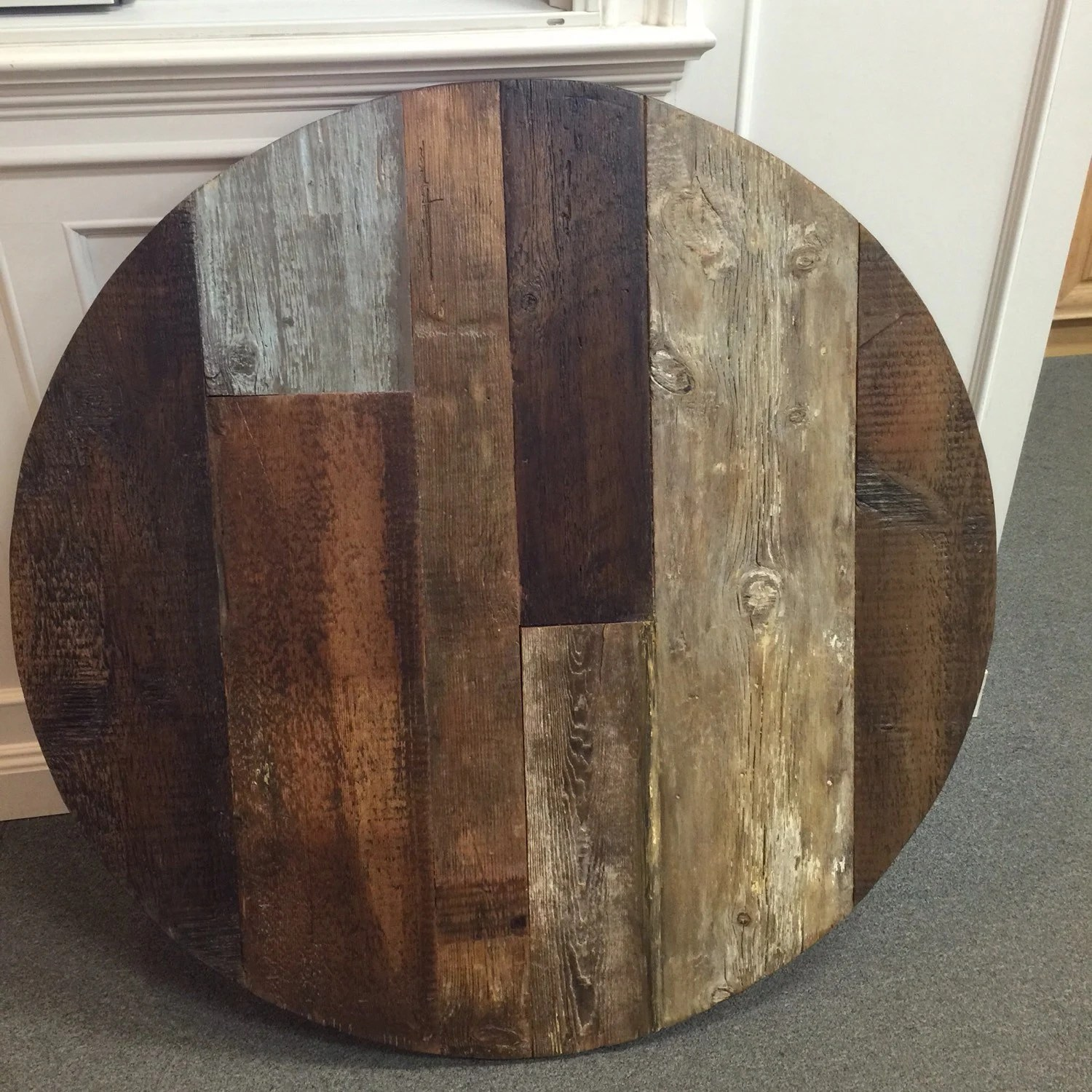 round table top wood