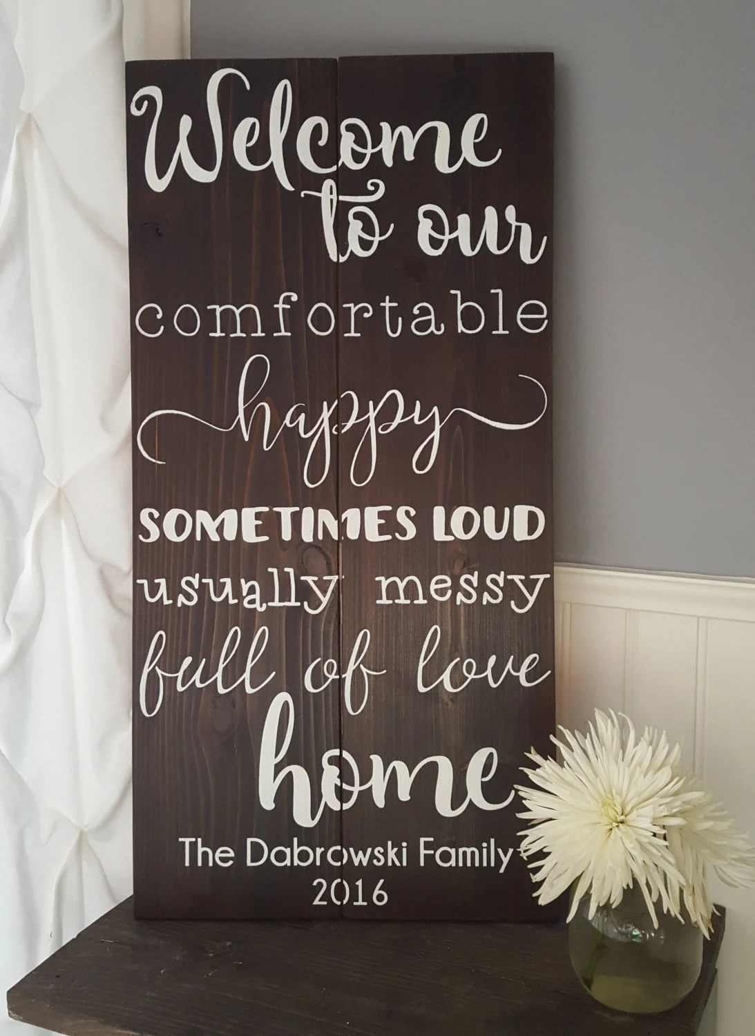 Items similar to Welcome To Our Comfortable, Happy, Sometimes Loud, Usually Messy, Full Of Love ...