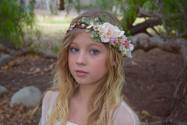 Wax Flower Crown Flower Head Girl