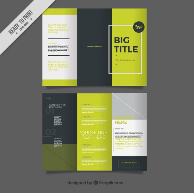 Trifold Vectors  Photos and PSD files   Free Download Trifold in modern style