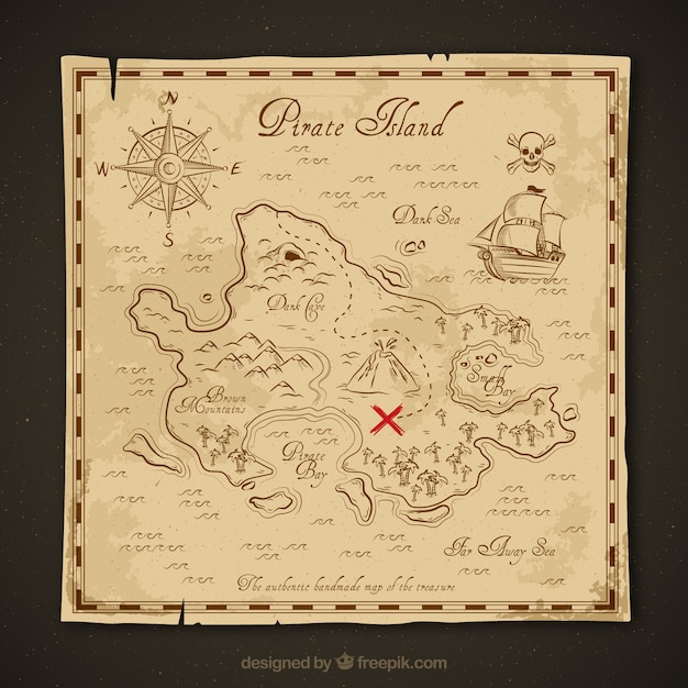 Treasure Map Vectors  Photos and PSD files   Free Download Vintage treasure map