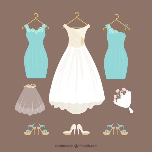 Wedding Dress Vectors, Photos and PSD files | Free Download