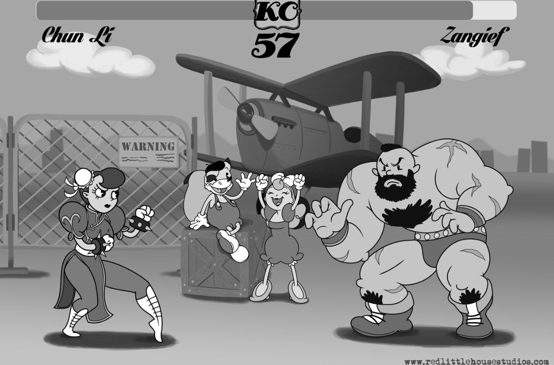 Video Games In The Style Of Old School Cartoons Are Awesome   Kotaku         behind adventure game Fleish   Cherry in Crazy Hotel  have created a  series of cool illustrations that mash up Fleish characters with other  video games