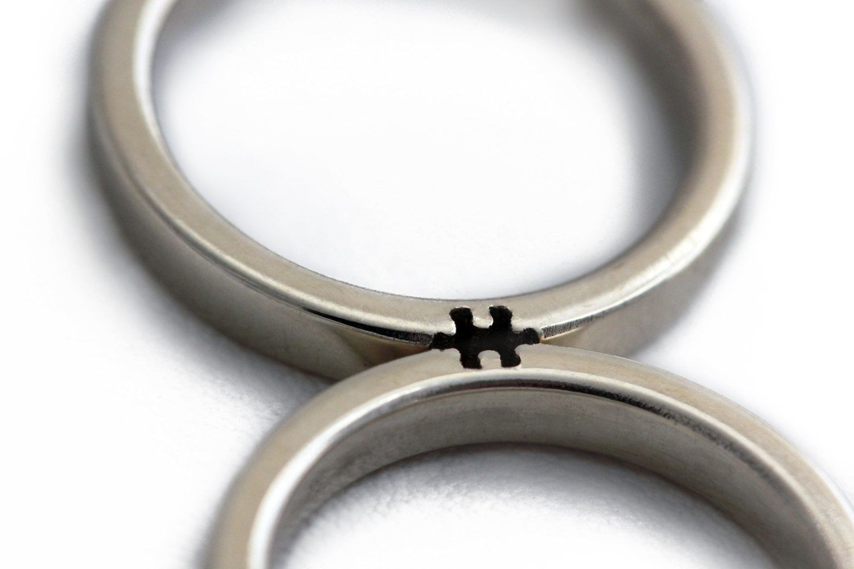 cadi jewellery etsy uk puzzle wedding rings These Etsy Wedding Rings Complete A Puzzle When You Put Them Together HuffPost UK