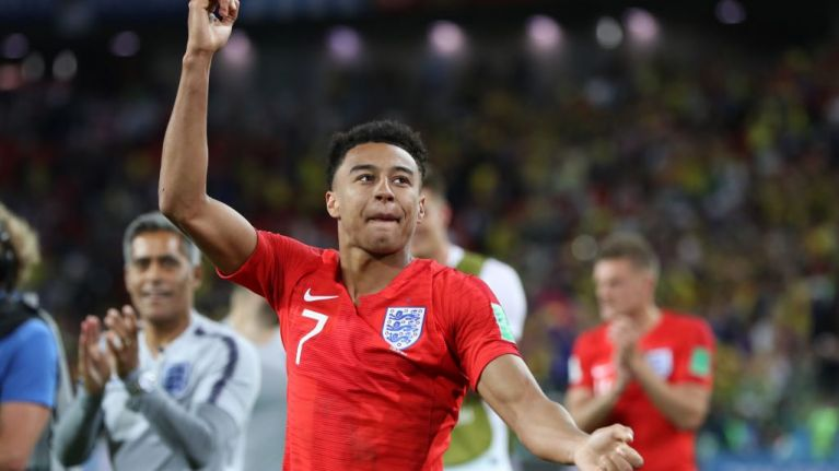 Jesse Lingard celebrates England s World Cup win the only way he     Jesse Lingard celebrates England s World Cup win the only way he knows how
