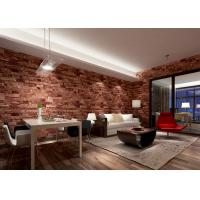 Removable 3D Brick Effect Wallpaper Living Room Wall Covering with 0.53*10M of interiorwallpaper